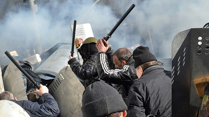Fierce clashes in Kiev as new wave of unrest grips Ukraine