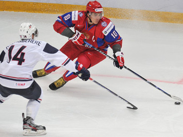 Russian hockey juniors top US at home Worlds